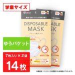 【入荷速報】≪ゆうパケット≫【2袋セット】DISPOSABLE マスクプリーツ型マスク 学童サ
