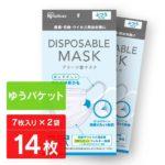 【入荷速報】≪ゆうパケット≫【2袋セット】DISPOSABLEマスク プリーツ型 ふつうサイズ